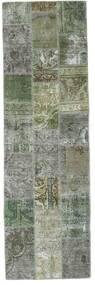 Patchwork - Persien/Iran Tapete 76X254 Moderno Feito A Mão Tapete Passadeira Cinzento Claro/Verde Escuro (Lã, Pérsia/Irão)