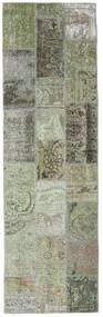 Patchwork - Persien/Iran Tapete 76X253 Moderno Feito A Mão Tapete Passadeira Cinza Escuro/Cinzento Claro (Lã, Pérsia/Irão)