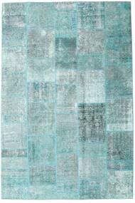 Patchwork - Persien/Iran Tapete 205X303 Moderno Feito A Mão Azul Claro/Verde Pastel/Azul Turquesa (Lã, Pérsia/Irão)