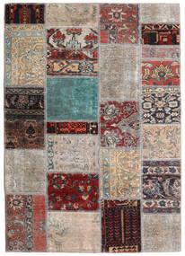 Patchwork - Persien/Iran Tapete 141X198 Moderno Feito A Mão Cinzento Claro/Castanho Escuro (Lã, Pérsia/Irão)