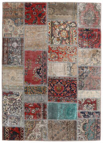 Patchwork - Persien/Iran Tapete 141X198 Moderno Feito A Mão Cinzento Claro/Vermelho Escuro (Lã, Pérsia/Irão)