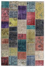 Patchwork - Persien/Iran Tapete 135X201 Moderno Feito A Mão Cinza Escuro/Cinzento Claro (Lã, Pérsia/Irão)