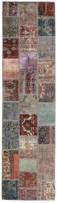 Patchwork - Persien/Iran Tapete 82X303 Moderno Feito A Mão Tapete Passadeira Cinzento Claro/Preto (Lã, Pérsia/Irão)