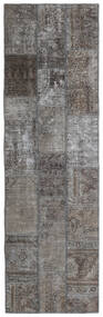 Patchwork - Persien/Iran Tapete 77X253 Moderno Feito A Mão Tapete Passadeira Cinza Escuro/Cinzento Claro (Lã, Pérsia/Irão)