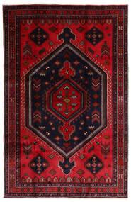Hamadã Tapete 202X308 Oriental Feito A Mão Vermelho Escuro/Vermelho (Lã, Pérsia/Irão)
