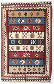Kilim Vintage Tapete 153X235 Oriental Tecidos À Mão Vermelho Escuro/Porpora Escuro (Lã, Pérsia/Irão)