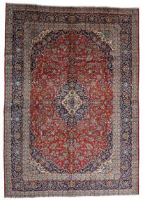 Kashan Tapete 287X403 Oriental Feito A Mão Vermelho Escuro/Castanho Escuro Grande (Lã, Pérsia/Irão)