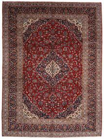 Kashan Tapete 294X400 Oriental Feito A Mão Vermelho Escuro Grande (Lã, Pérsia/Irão)