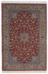 Isfahan Sherkat Farsh Tapete 200X300 Oriental Feito A Mão Vermelho Escuro/Castanho Escuro (Lã/Seda, Pérsia/Irão)