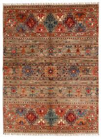 Shabargan Tapete 153X209 Moderno Feito A Mão Castanho Escuro/Castanho Claro (Lã, Afeganistão)