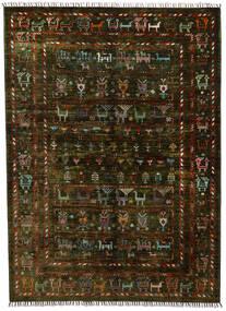 Moderno Afegão Tapete 154X212 Moderno Feito A Mão Castanho Escuro (Lã, Afeganistão)