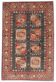 Kazak Tapete 118X179 Oriental Feito A Mão Vermelho Escuro/Cinza Escuro (Lã, Afeganistão)