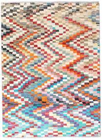 Moroccan Berber - Afghanistan Tapete 125X169 Moderno Feito A Mão Azul Claro/Branco/Creme (Lã, Afeganistão)