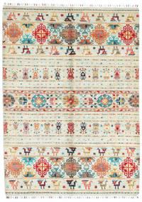 Sharbargan Tapete 173X238 Moderno Feito A Mão Bege (Lã, Afeganistão)