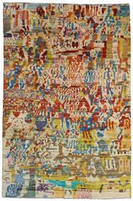 Moroccan Berber - Afghanistan Tapete 199X303 Moderno Feito A Mão Bege Escuro/Castanho Escuro (Lã, Afeganistão)