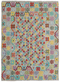 Kilim Afegão Old Style Tapete 171X231 Oriental Tecidos À Mão Cinzento Claro/Cinza Escuro (Lã, Afeganistão)