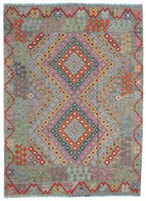 Kilim Afegão Old Style Tapete 170X234 Oriental Tecidos À Mão Cinza Escuro/Castanho Claro (Lã, Afeganistão)