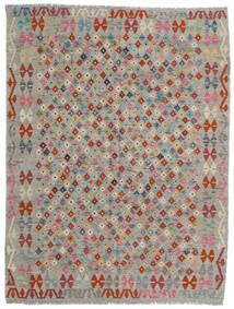 Kilim Afegão Old Style Tapete 175X230 Oriental Tecidos À Mão Cinzento Claro/Cinza Escuro (Lã, Afeganistão)