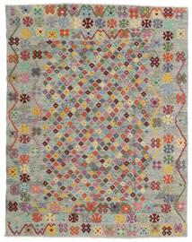 Kilim Afegão Old Style Tapete 185X236 Oriental Tecidos À Mão Cinzento Claro/Castanho (Lã, Afeganistão)
