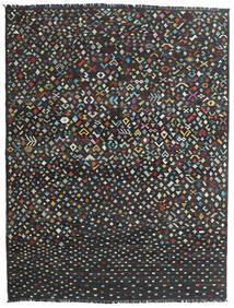 Kilim Moderno Tapete 176X231 Moderno Tecidos À Mão Cinza Escuro/Preto (Lã, Afeganistão)