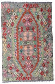 Kilim Afegão Old Style Tapete 96X149 Oriental Tecidos À Mão Cinzento Claro/Cinza Escuro (Lã, Afeganistão)