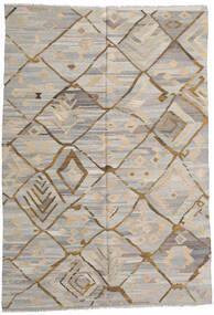 Kilim Ariana Tapete 203X300 Moderno Tecidos À Mão Cinzento Claro (Lã, Afeganistão)