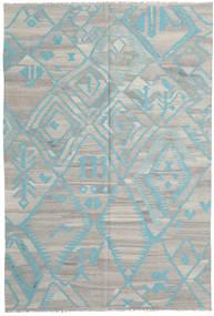 Kilim Moderno Tapete 200X294 Moderno Tecidos À Mão Cinzento Claro (Lã, Afeganistão)