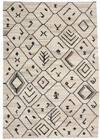 Kilim Ariana Tapete 206X292 Moderno Tecidos À Mão Cinzento Claro/Cinza Escuro (Lã, Afeganistão)