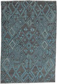Kilim Moderno Tapete 197X291 Moderno Tecidos À Mão Azul Claro/Azul (Lã, Afeganistão)