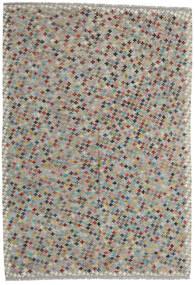 Kilim Afegão Old Style Tapete 205X296 Oriental Tecidos À Mão Cinzento Claro/Cinza Escuro (Lã, Afeganistão)