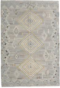 Kilim Moderno Tapete 202X297 Moderno Tecidos À Mão Cinzento Claro (Lã, Afeganistão)