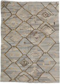 Kilim Ariana Tapete 212X285 Moderno Tecidos À Mão Cinzento Claro/Castanho Claro (Lã, Afeganistão)