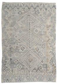 Kilim Moderno Tapete 212X295 Moderno Tecidos À Mão Cinzento Claro (Lã, Afeganistão)