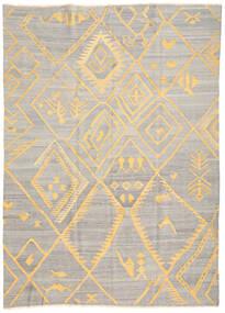 Kilim Ariana Tapete 208X287 Moderno Tecidos À Mão Cinzento Claro/Bege (Lã, Afeganistão)