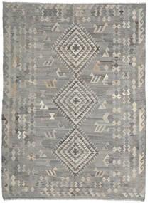 Kilim Ariana Tapete 216X285 Moderno Tecidos À Mão Cinzento Claro/Cinza Escuro (Lã, Afeganistão)