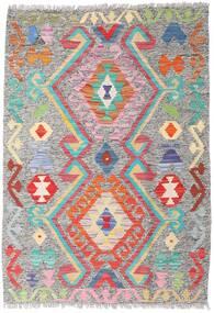 Kilim Afegão Old Style Tapete 86X124 Oriental Tecidos À Mão Cinzento Claro (Lã, Afeganistão)