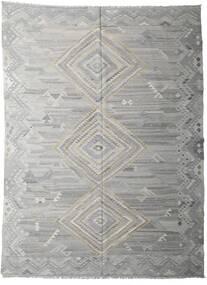 Kilim Ariana Tapete 255X339 Moderno Tecidos À Mão Cinzento Claro/Cinza Escuro Grande (Lã, Afeganistão)