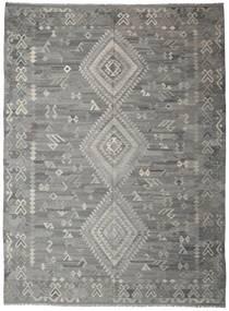 Kilim Ariana Tapete 252X340 Moderno Tecidos À Mão Cinzento Claro/Cinza Escuro Grande (Lã, Afeganistão)