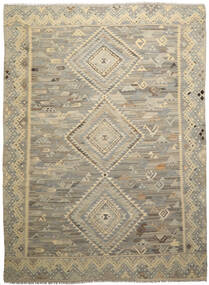Kilim Ariana Tapete 260X342 Moderno Tecidos À Mão Castanho Escuro/Verde Azeitona Grande (Lã, Afeganistão)