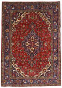 Tabriz Tapete 240X333 Oriental Feito A Mão Vermelho Escuro/Cinza Escuro (Lã, Pérsia/Irão)