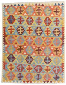 Kilim Afegão Old Style Tapete 157X202 Oriental Tecidos À Mão Bege Escuro/Azul Claro (Lã, Afeganistão)