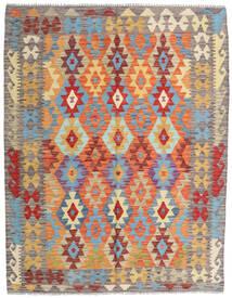 Kilim Afegão Old Style Tapete 154X198 Oriental Tecidos À Mão Bege Escuro/Cinzento Claro (Lã, Afeganistão)