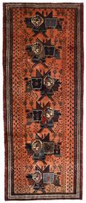 Afshar Tapete 107X265 Oriental Feito A Mão Tapete Passadeira Castanho Escuro/Vermelho (Lã, Pérsia/Irão)