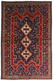 Afshar Tapete 146X224 Oriental Feito A Mão Vermelho Escuro/Azul Escuro (Lã, Pérsia/Irão)