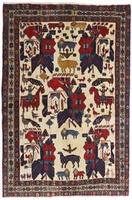 Afshar Tapete 126X188 Oriental Feito A Mão Cinza Escuro/Vermelho Escuro (Lã, Pérsia/Irão)