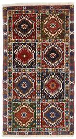 Yalameh Tapete 60X105 Oriental Feito A Mão Vermelho Escuro/Preto (Lã, Pérsia/Irão)