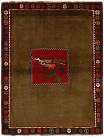 Ghashghai Tapete 130X170 Oriental Feito A Mão Castanho/Castanho Escuro (Lã, Pérsia/Irão)