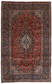 Kashan Tapete 196X309 Oriental Feito A Mão Vermelho Escuro/Castanho Escuro (Lã, Pérsia/Irão)