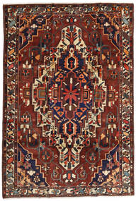 Bakhtiari Tapete 201X296 Oriental Feito A Mão Vermelho Escuro/Castanho Escuro (Lã, Pérsia/Irão)