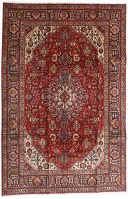 Tabriz Tapete 196X295 Oriental Feito A Mão Vermelho Escuro/Castanho Claro (Lã, Pérsia/Irão)